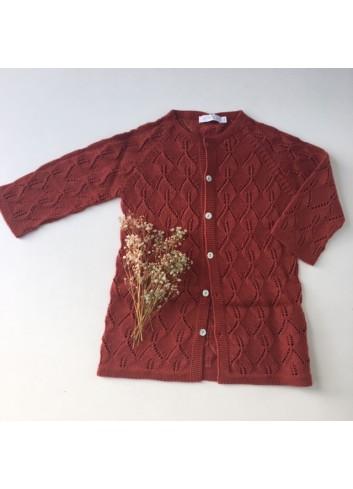 Chaqueta calada color teja de la marca Paloma de la O
