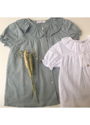 Blusa plumetti cuello de volante de la marca Paloma de la O