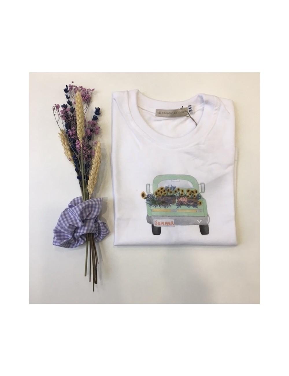 Camiseta de algodón y manga corta para niño con dibujo de El tocador de Victoria
