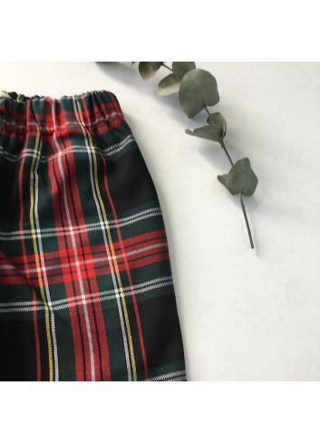 Pantalón de cuadros escoceses con cintura elástica de la marca Mia y Lia.