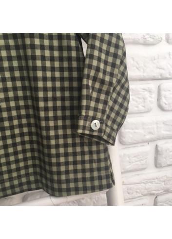 Camisa polera de cuadritos verde y negro de la marca Dbb