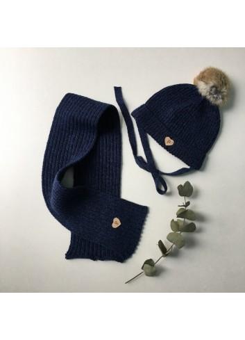Bufanda jaspeada azul de la marca Paloma de la O