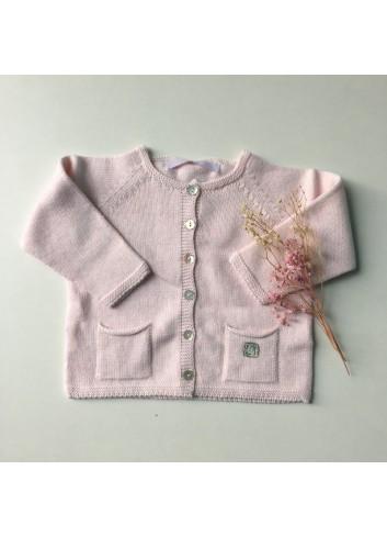 Chaqueta básica rosa de la marca Al agua patos
