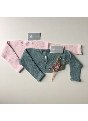 Chaquetita torera básica rosa de la marca Al agua patos
