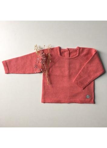 Jersey básico color teja con trasera de botones de la marca Al agua patos