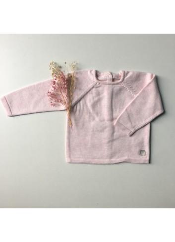 Jersey básico color rosa con trasera de botones de la marca Al agua patos
