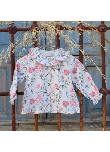 Camisa cuello volante estampada de la marca El tocador de Victoria