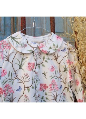 Camisa cuello bobo estampada de la marca El tocador de Victoria