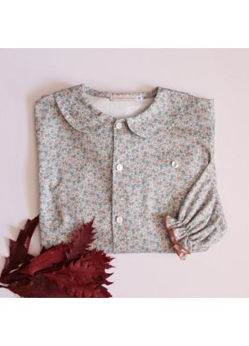 Camisa para mamá estampada con cuello bebé de la marca El tocador de Victoria