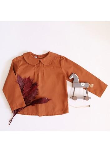Camisa cuello de bebe color caldera de la marca El tocador de Victoria