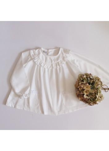Blusón básico de viella de la marca El tocador de Victoria