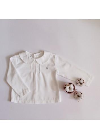 Camisa básica de viella cuello bebé de la marca El tocador de Victoria