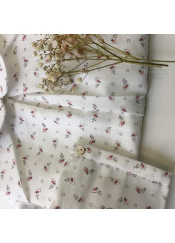 Blusa Ada con estampado de florecitas en color coral de la marca Al agua patos
