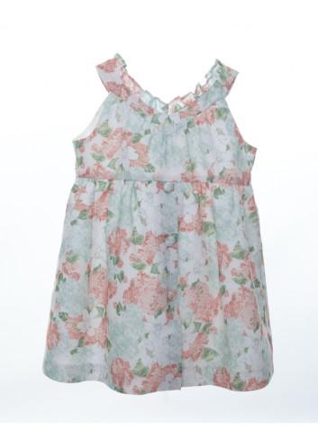 Vestido de lino con estampado de flores grandes de la marca Bonsuit