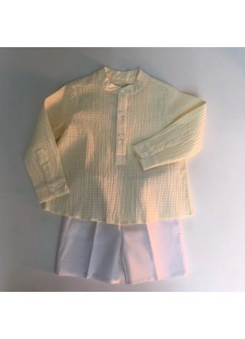 Camisa polera mil rayas amarilla