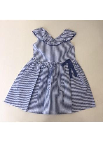 Vestido de rayas azul fina ejerique