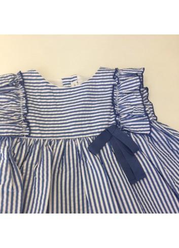 Vestido de rayas azul fina ejerique con braguita incluida de la marca Fina Ejerique