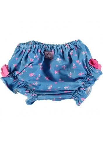 Bañador de bebé ( tipo cubrepañal ) con estampado rosa y azul de la marca Al agua patos