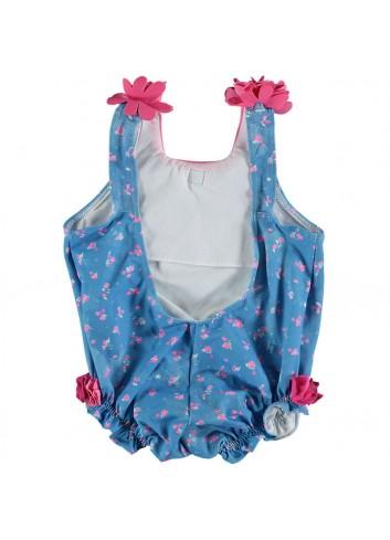 Bañador de bebe estampado rosa y azul de la marca Al agua patos