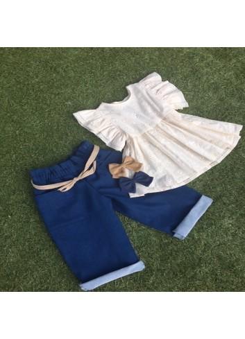 Pantalon capri vaquero de la marca Mia y Lia