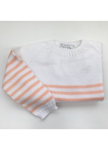 Jersey de rayas color mandarina de Paloma de la O