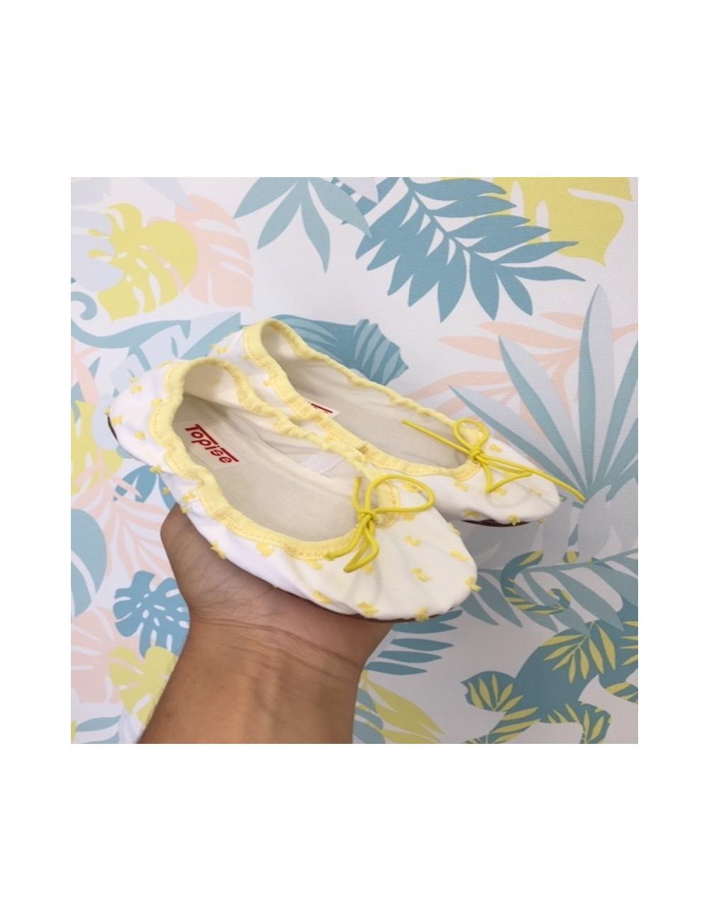 Bailarinas de plumetti amarillo Olivo y Paniculata